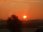 """Le soleil """"en train"""" de se coucher..."""